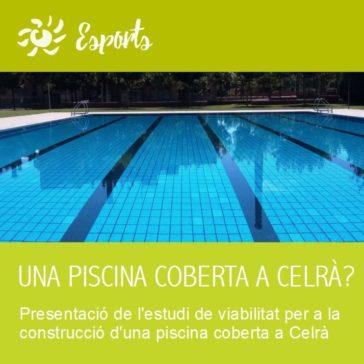 Cartell de l'acte de presentació de l'estudi de viabilitat d'una piscina coberta a Celrà