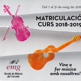 Fins al 31 de maig, matriculacions a l'Escola de Música del Gironès