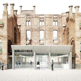 Imatge del projecte d'ampliació de la biblioteca municipal