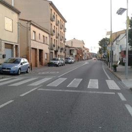 Diferents actuacions a la carretera de Palamós dins el Pla local de seguretat viària