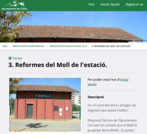 Captura del web de participació