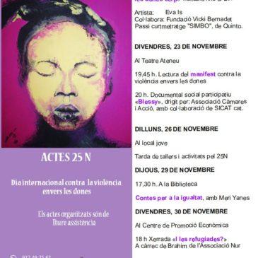 Cartell dels actes amb motiu del 25-N