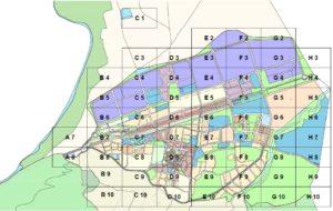 Detall del plànol de numeració del polígon industrial