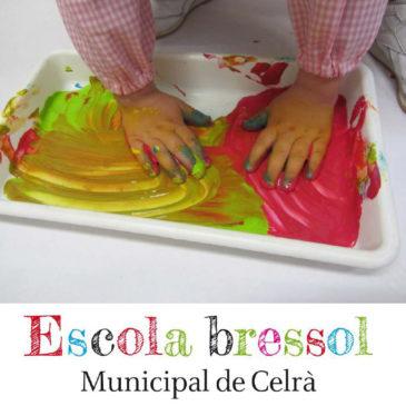 Portada del llibret informatiu de l'Escola Bressol Municipal de Celrà