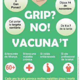 Cartell de la campanya de vacunacio antigripal