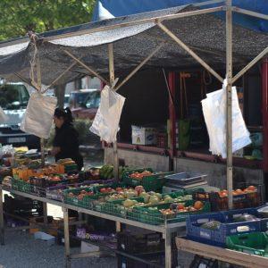 Imatge del mercat setmanal dels divendres