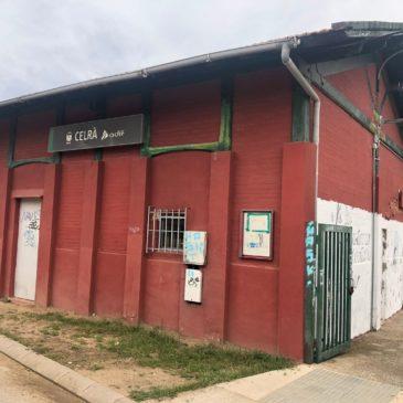 Imatge actual de l'edifici de l'estació de Celrà
