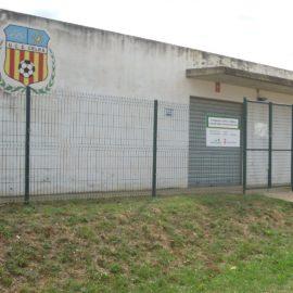 Imatge dels vestidors del camp de futbol de Celrà