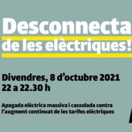 Cartell Desconnecta de les elèctriques